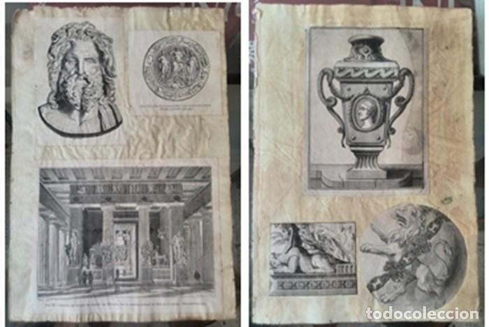 Manuscritos antiguos: Cartera de piel con documentos y grabados siglo 19 - Foto 6 - 155790698