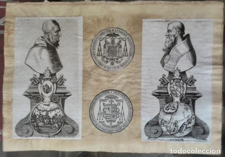 Manuscritos antiguos: Cartera de piel con documentos y grabados siglo 19 - Foto 7 - 155790698