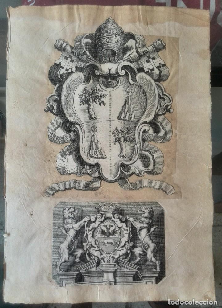 Manuscritos antiguos: Cartera de piel con documentos y grabados siglo 19 - Foto 9 - 155790698