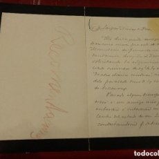 Manuscritos antiguos: DOCUMENTO CON FIRMA DEL PERIODISTA NACIDO EN SAN CRISTOBAL DE LA LAGUNA (TENERIFE), MANUEL DELGADO. Lote 155819342