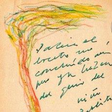 Manuscritos antiguos: DIBUJO Y POEMA MANUSCRITO INÉDITO DE PABLO NERUDA. Lote 156126966