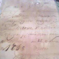 Manuscritos antiguos: GRAN LOTE MANUSCRITOS ANTIGUOS. Lote 156551406