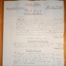 Manuscritos antiguos: DOCUMENTO COMISIÓN SUBALTERNA DE ORIHUELA - CRÉDITO PÚBLICO - VENTA FINCAS CONVENTOS SUPRIMIDOS 1822. Lote 156675526