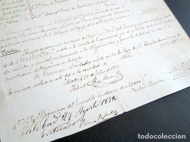 Manuscritos antiguos: AÑO 1872. DUQUE DE OSUNA Y DEL INFANTADO. MADRID. IMPORTE DEUDA FLOTANTE CONTRA DUQUE. DETALLADA. - Foto 4 - 156828098