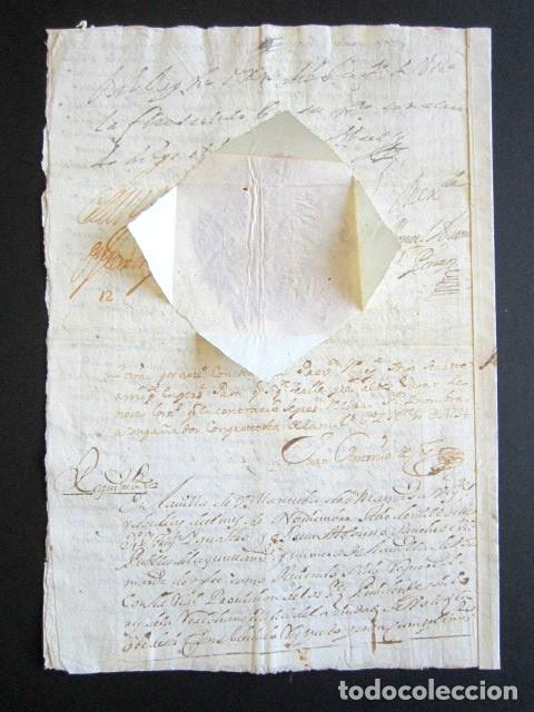 AÑO 1734. REAL PROVISIÓN FELIPE V. SELLO SECO Y FIRMA CANCILLER. VALLADOLID. VILLANUEVA SAN MANCIO (Coleccionismo - Documentos - Manuscritos)