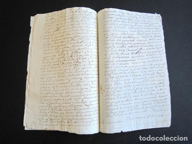 Manuscritos antiguos: AÑO 1734. REAL PROVISIÓN FELIPE V. SELLO SECO Y FIRMA CANCILLER. VALLADOLID. VILLANUEVA SAN MANCIO - Foto 3 - 157206022