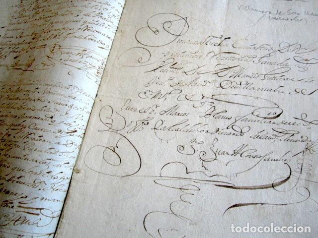 Manuscritos antiguos: AÑO 1734. REAL PROVISIÓN FELIPE V. SELLO SECO Y FIRMA CANCILLER. VALLADOLID. VILLANUEVA SAN MANCIO - Foto 5 - 157206022