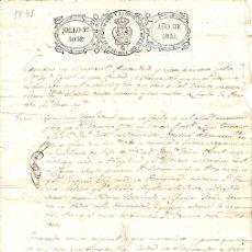 Manuscritos antiguos: CERTIFICADO DE BAUTISMO IGLESIA DE SANTANDER, CANTABRIA. AÑO 1841. Lote 157376608