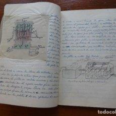 Manuscritos antiguos: LIBRETA MANUSCRITA, INGENIERÍA DE POZOS Y PURIFICACIÓN AGUAS, ILUSTRADA CON DIBUJOS, AÑOS 30, 44 PAG. Lote 157914038