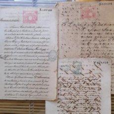 Manuscritos antiguos: 2ºLOTE DE DOCUMENTOS CUBANOS ANTIGUOS ,SIGLO XIX,PODERES Y VENTAS . Lote 157918850