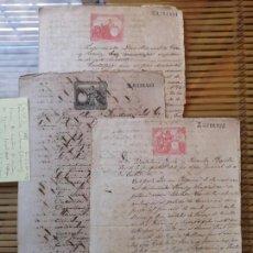 Manuscritos antiguos: 3º LOTE DE DOCUMENTOS CUBANOS ANTIGUOS VENTAS DE INGENIOS ,SIGLO XIX. Lote 157920326