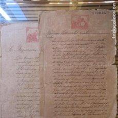 Manuscritos antiguos: 5º LOTE DE DOCUMENTOS CUBANOS DEL SIGLO XIX ,VENTAS DE INGENIOS. Lote 157924266