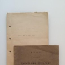 Manuscritos antiguos: DOCUMENTO A MÁQUINA DE HENRY LARCOM ABBOT: CANAL DE PANAMA Y NICARAGUA, 1898. Lote 158015142