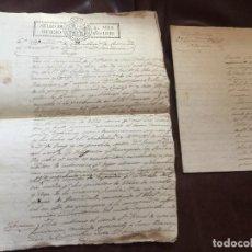 Manuscritos antiguos: DENUNCIA CONTRABANDO DE SAL EN GALICIA, STA M. TOMIÑO, PIÑEIRO, CONTRA FCO CADAVAL. AÑO 1830 - 9PAGS. Lote 158024230