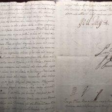 Manuscritos antiguos: FIRMA REAL FELIPE V . 1742. ARANJUEZ. Lote 158122556