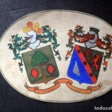 Manuscritos antiguos: (JX-190415)ESCUDOS HERÁLDICOS PINTADOS DE LAS FAMILIAS GARGALLO Y VIALA,NOBLEZA CATALAN,SIGLO XIX.. Lote 158492082