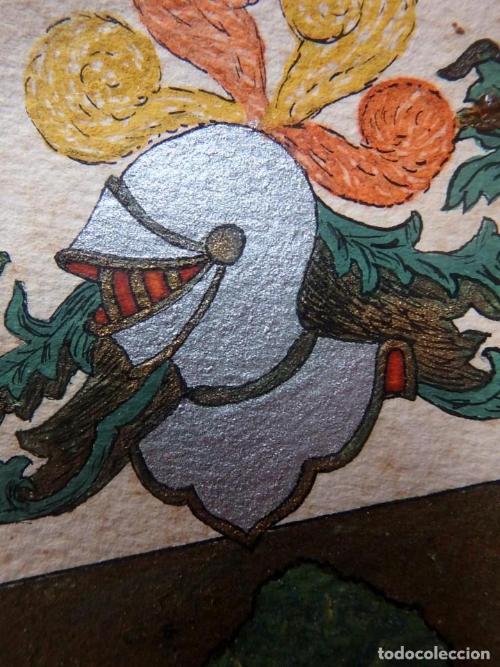 Manuscritos antiguos: (JX-190415)Escudos Heráldicos pintados de las Familias Gargallo y Viala,Nobleza Catalan,Siglo XIX. - Foto 3 - 158492082
