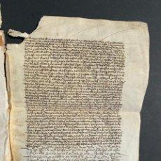 Manuscritos antiguos: 1497 - CENSO EN FAVOR DE HERNANDO DE CASTRO DE LA HOZ - BURGOS CAPILLA DE LOS REYES. Lote 158545602