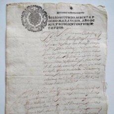 Manuscritos antiguos: VILLAVERDE DE ARCAYOS (LEÓN) SELLO FISCAL 2º DE 68 MARAVEDIS AÑO 1662 - CUESTIÓN DE HERENCIAS. Lote 158854774