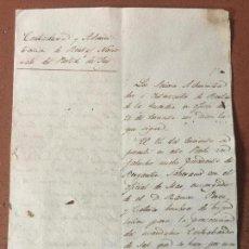 Manuscritos antiguos: ANTIGUO DOCUMENTO, PERSECUCION CONTRABANDO DE SAL Y DETENCION.. 1837 CANGAS, TUI. PONTEVEDRA. Lote 159038610