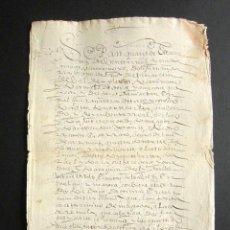 Manuscritos antiguos: AÑO 1636. SAN MARTÍN DE VALDEIGLESIAS. MADRID. VENTA DE UNAS TIERRAS. . Lote 159121114