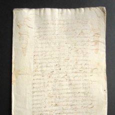 Manuscritos antiguos: AÑO 1636. MADRID. VALDEMORO. INFORMACIÓN CABALLERO DE ORDEN DE SANTIAGO. GOBERNADOR. ARANJUEZ. . Lote 159121894