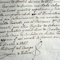 Manuscritos antiguos: AÑO 1817. RELOJERÍA. FIRMA EL MARQUÉS DEL CAMPO DE VILLR. RELOJ FRANCÉS POR RELOJ INGLÉS. MADRID. . Lote 159123202