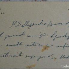 Manuscritos antiguos: 2 DOCUMENTOS MANUSCRITOS FIRMADOS MIEMBROS FAMILIA DE LOS CONDES DE GAMAZO, 1942 Y 1959, Y TELEGRAMA. Lote 159215034