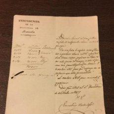 Manuscritos antiguos: ORDEN DE PAGO EN PLATA Y ORO ANTIGUO MANUSCRITO AÑO 1837. INTENDENCIA PROVINCIA PONTEVEDRA. TUI. TUY. Lote 159435538