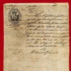 Manuscritos antiguos: DOCUMENTO MILITAR EN MATANZAS , CUBA 1876 , ORIGINAL , B10 -12. Lote 159521562