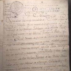 Manuscritos antiguos: FIRMA REAL. FELIPE V. 1740. BUEN RETIRO. Lote 159782544
