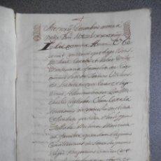 Manuscritos antiguos: MANUSCRITO AÑO 1694 VALENCIA IMPOSICIÓN DE CENSAL 37 PÁGINAS BONITA LETRA. Lote 159862466