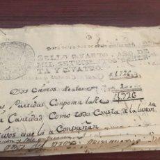 Manuscritos antiguos: CARLOS III 1784. CABECERA PAPEL SELLADO O TIMBRADO, SELLO DESPACHOS DE OFICIO CUATRO MARAVEDIS. Lote 160176930