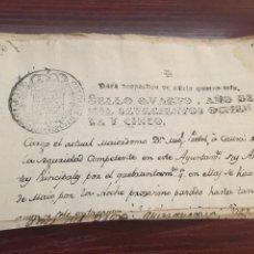 Manuscritos antiguos: CARLOS III 1785. CABECERA PAPEL SELLADO O TIMBRADO, SELLO DESPACHOS DE OFICIO CUATRO MARAVEDIS. Lote 160177238