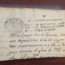 Manuscritos antiguos: CARLOS III 1786. CABECERA PAPEL SELLADO O TIMBRADO, SELLO DESPACHOS DE OFICIO CUATRO MARAVEDIS. Lote 160177696