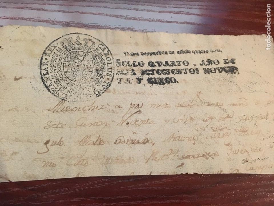 CARLOS IV 1795. CABECERA PAPEL SELLADO O TIMBRADO, SELLO DESPACHOS DE OFICIO. (Coleccionismo - Documentos - Manuscritos)