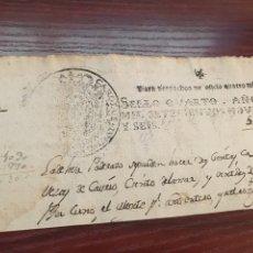 Manuscritos antiguos: CARLOS IV 1796. CABECERA PAPEL SELLADO O TIMBRADO, SELLO DESPACHOS DE OFICIO. Lote 160180184