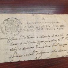 Manuscritos antiguos: CARLOS IV 1801. CABECERA PAPEL SELLADO O TIMBRADO, SELLO DESPACHOS DE OFICIO.. Lote 160180378