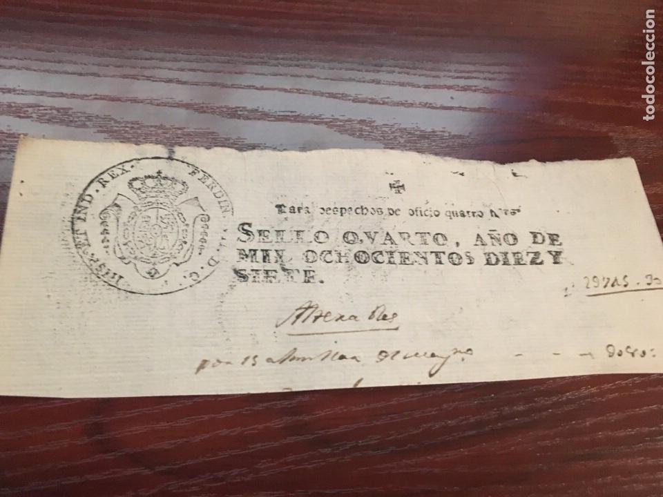 FERNANDO VII 1817. CABECERA PAPEL SELLADO O TIMBRADO, SELLO DESPACHOS DE OFICIO (Coleccionismo - Documentos - Manuscritos)