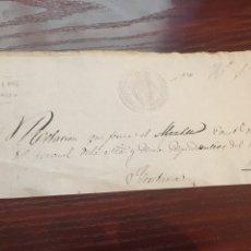 Manuscritos antiguos: ISABEL II 1846. CABECERA PAPEL SELLADO O TIMBRADO, SELLO SECO DESPACHOS DE OFICIO. Lote 160184716
