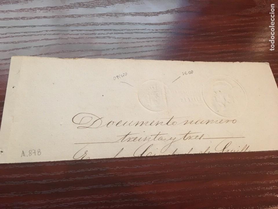 ALFONSO XII 1878. CABECERA PAPEL SELLADO O TIMBRADO, SELLO SECO DESPACHOS DE OFICIO. (Coleccionismo - Documentos - Manuscritos)