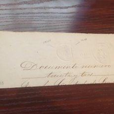 Manuscritos antiguos: ALFONSO XII 1878. CABECERA PAPEL SELLADO O TIMBRADO, SELLO SECO DESPACHOS DE OFICIO.. Lote 160185761