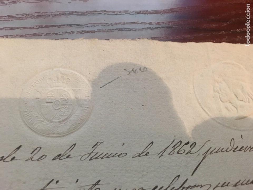 Manuscritos antiguos: ALFONSO XIII 1889. Cabecera papel sellado o timbrado, sello seco despachos de oficio. - Foto 2 - 160186270
