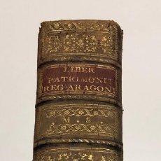 Manuscritos antiguos: MANUSCRITO. LIBER PATRIMONII REGII ARAGONIAE. COPIA DE 1804. Lote 160229794