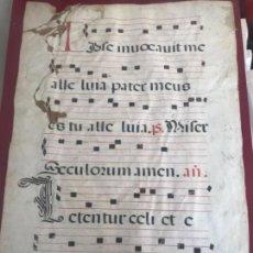 Manuscritos antiguos: PARTITURA MANUSCRITO EN PERGAMINO . S. XVIII. DOS CARAS. VER FOTOS ANEXAS. . Lote 160259470