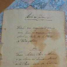 Manuscritos antiguos: ANTIGUA ESCRITURA MANUSCRITA DE CUENTAS.ALCALA GUADAIRA 1837. Lote 160396558