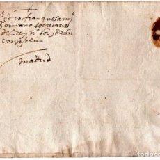 Manuscritos antiguos: CARTA MANUSCRITO,SIGLO XVI,1594 AL DUQUE PEDRO FRANQUEZA,SECRETARIO INQUISICION Y REY FELIPE II-III. Lote 160675470