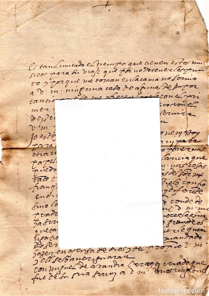 Manuscritos antiguos: CARTA MANUSCRITO,SIGLO XVI,1594 AL DUQUE PEDRO FRANQUEZA,SECRETARIO INQUISICION Y REY FELIPE II-III - Foto 3 - 160675470
