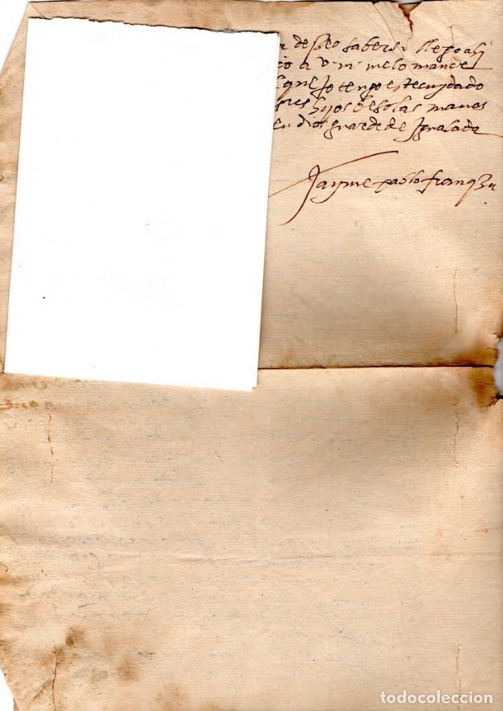 Manuscritos antiguos: CARTA MANUSCRITO,SIGLO XVI,1594 AL DUQUE PEDRO FRANQUEZA,SECRETARIO INQUISICION Y REY FELIPE II-III - Foto 4 - 160675470