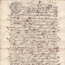 Manuscritos antiguos: 1697 FUENLABRADA. 2 SELLOS FISCALES 4º 10 MRS DOCUMENTO MANUSCRITO PAPEL SELLADO FISCAL. Lote 160859122